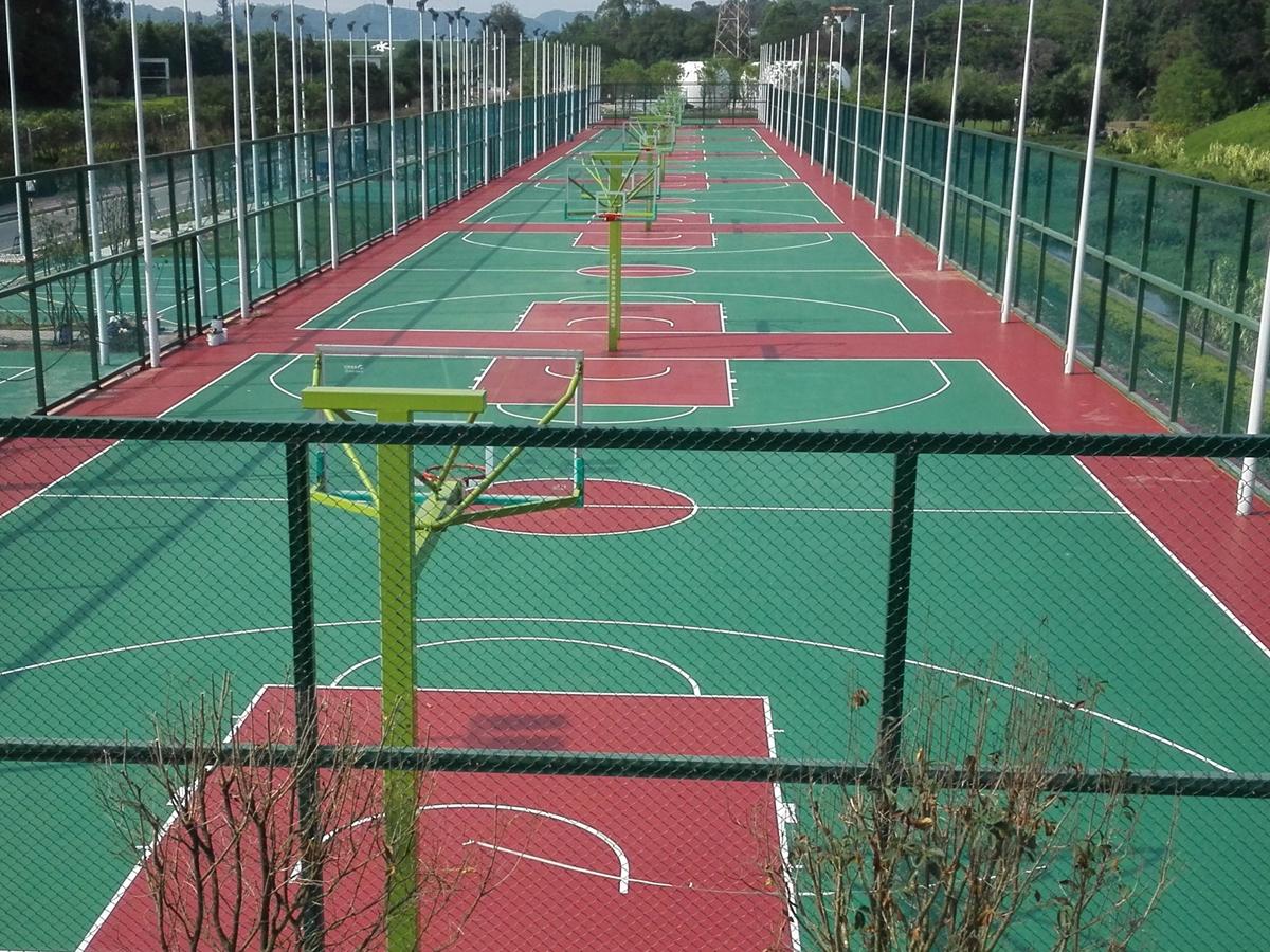 深圳某体育公园硅PU球场
